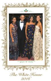 the obamas release their family card from the