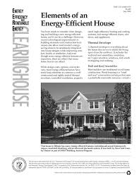 elements of an energy efficient house energy efficiency and