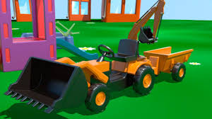 kid u0027s 3d construction 6 build a loader demo learn to count