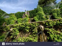 villa d este tivoli italy ornamental water feature detail of the