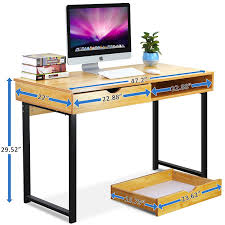 tribesigns computer desk modern stylish 47