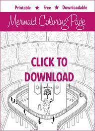 mermaid coloring pages download print free