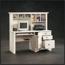 Sauder Harbor View Corner Computer Desk In Antiqued Paint Sauder Harbor View Computer Desk With Hutch Antiqued White 158034