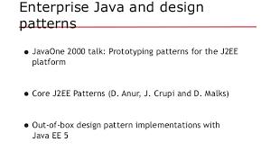 pattern design java java ee revisits design patterns