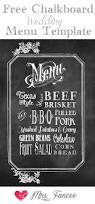 chalkboard wedding menu free template menu templates