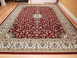 5x8 Kitchen Rugs Amazon Com Large 5x8 Red Cream Beige Black Isfahan Area Rug