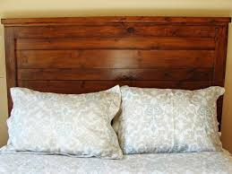 How To Make A Wooden Platform Bed by How To Build A Rustic Wood Headboard How Tos Diy