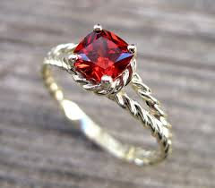 engagement ruby rings images Ruby engagement ring cushion ruby braided rope engagement jpg
