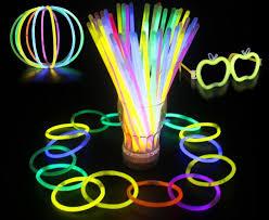 neon party multi color hot glow stick bracelet necklaces neon party led