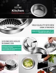 Kitchen Sink Drain Catcher by Kitchen Sink Strainer Fu Store 2 Pieces Stainless Steel Sink