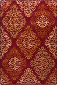Red Area Rug by Surya Arabesque Abs3014 Red Area Rug Free Shipping