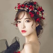 headband floral flower headband wedding bridal leaf floral crown tiara