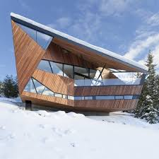 steep site house plans faceted facade accommodates building codes and snow loads