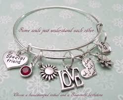 best friend charm bracelet gift for best friend personalized
