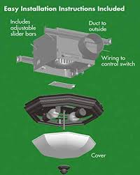 Bathroom Fan And Light by Hunter 82023 Ventilation Belle Meade Bathroom Exhaust Fan And