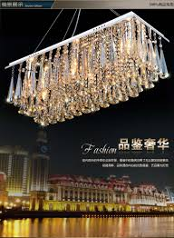chandeliers dining room rectangle crystal pendant chandelier light