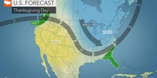 weather will it snow on thanksgiving