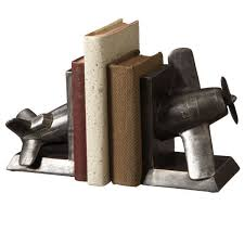 airplane home decor vintage airplane bookends 52 00 enchanted cottage shop for