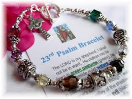 religious bracelets psalm 23 bracelet wear a precious reminder of the lord s never
