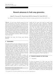 recent advances in fruit crop genomics pdf download available