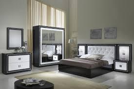 chambre laque noir chambre moderne adulte blanche
