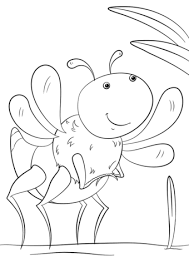 cartoon insect coloring free printable coloring pages