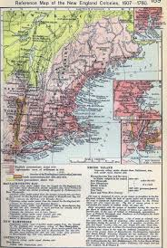1775 Map Of Boston by Of The New England Colonies 1607 1760