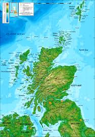 Topical Map Of United States by Topographical Map Of Scotland Topographic Map