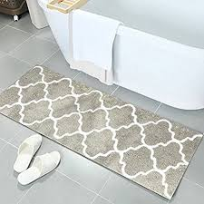 Bathroom Rug Runner Washable Pauwer Microfiber Bath Rugs Non Slip Bath Rug Runner