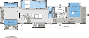 Pop Up Camper Floor Plans by 5th Wheel Bunkhouse Floor Plans Floorplan Travel Pinterest