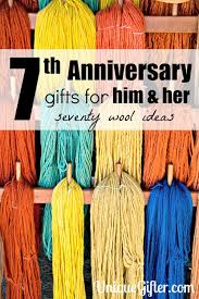 7th anniversary gifts for him 70 wool 7th anniversary gifts for him and unique gifter