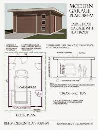 roof flat roof garage design two car garage plan 480 1ft with
