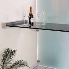stehtisch küche glas stehtisch freitragend mit wandklemmleiste glasprofi24