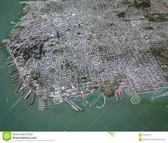 Map Of San Francisco by Map Of San Francisco Center 3d Buildings Stock Illustration