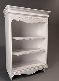 Bookshelf Antique White Antique Bookshelf 3d Model 3dsmax Files Free Download