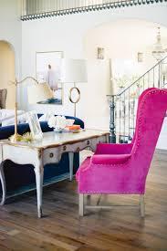 Pink Peonies Bedroom - elegant velvet accent chairs living room living room reveal pink