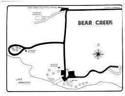 Bear Creek Trail Map Lake Greeson