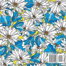 beautiful flowers floral designs patterns square coloring book