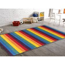 Childrens Round Rugs Beautiful Stripped Rainbow Kids Floor Rugs Free Shipping