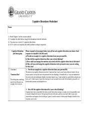 five thinking errors worksheet five thinking errors worksheet