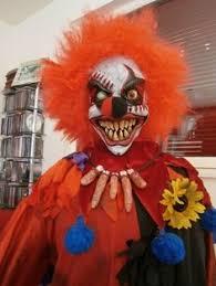 Creepy Clown Halloween Costumes Psycho Killer Clown Knives Entertainment Evil Clowns