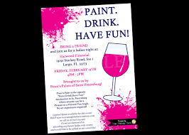 painting wine party invitation bachelorette invitations