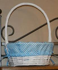 personalized wicker easter baskets personalized white wicker lined easter basket by