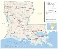 Louisiana State Map by Louisiana Map Travel Across The Usa