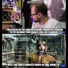 Creation Memes - skyrim character creation memes memes pics 2018