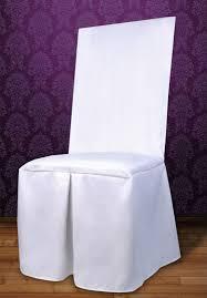 housse de chaise blanche la housse de chaise en tissu luxe bords carrés décoration de table