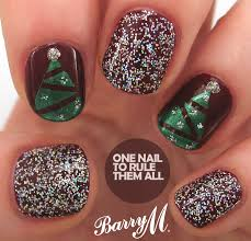 one nail to rule them all tutorial tuesday christmas trees