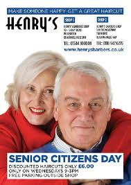 Senior Hair Cut Discounts | bracknell barbers haircuts at henry s barbers shop in bracknell