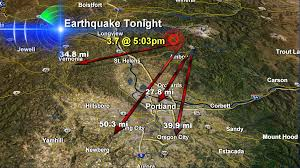 Earthquake Map Oregon by Thousands In Portland U0026 Vancouver Area Feel Washington Earthquake
