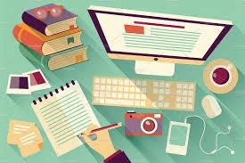 Office Desk Games by Flat Design Office Desk 04 Illustrations Creative Market